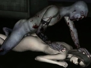 Yummy 3D cartoon zombie vixen getting fucked hard