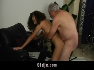 White haired grandpa fucks horny Stephanie free