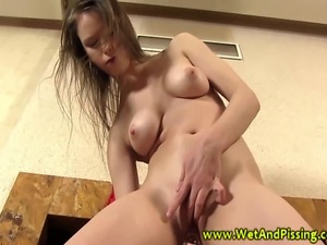 Wam urine lover plays with toys and pee and loves it