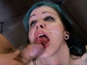 Emo Teen Cum Covered for Xmas!
