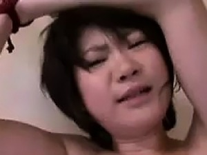 Japanese Teen Slave Getting Played With