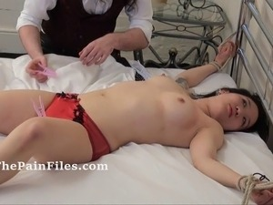 Asian teens erotic domination and bedroom bondage of oriental slavegirl in...