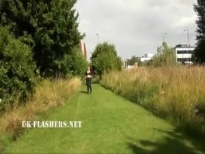 Chubby Andreas public nudity and naughty mum flashing outdoors with british...
