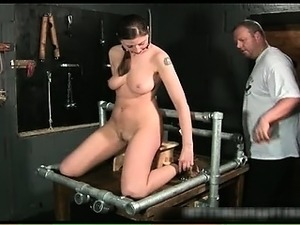 Kinky brunette slut is bound and spanked part4