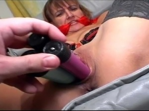 Redhead mature slut bound, fisted and facialized