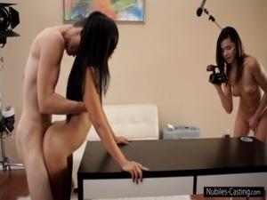 Tiny tit latina desperate to be a pornstar free