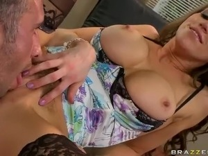 Horny big titted lady boss Eve Laurence is eager for