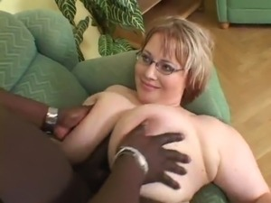 MateMature.com # Chubby Stacked Blonde Camila Sucks Black Cock And Is Boned free
