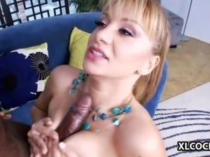 Lea Lexis enjoys interracial sex