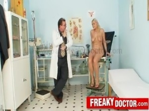 Hot blonde Alexa Bold misused by dirty gyno doctor free