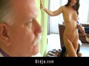 Old butler serve sex to his spoiled lady boss free