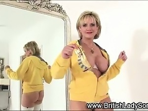 Stockinged solo hot mature fetish brit