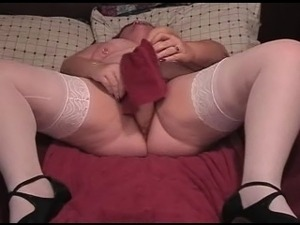 BBW Orgasms with huge Toy