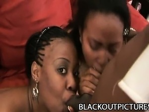 Janae Foxx and Ahnyjah Black - Two Black Babes Feasting On Black Schlong