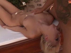 Teena Dolly is a tall and blonde Russian babe. She has an all natural body...
