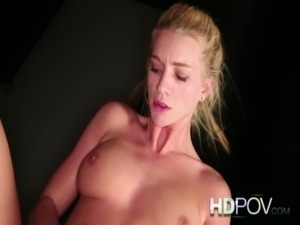 HD POV Skinny Blonde Student with Beautiful Tits Fucks Big Dick with Facial free