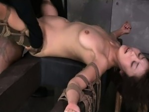 fucked by ten inch BBC in strict bondage