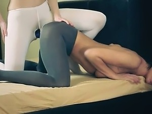 Amazing beautiful lesbians in pantyhose