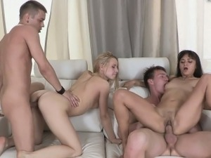 Hot Teens Molly And Janna Get Wild In A Hot Foursome