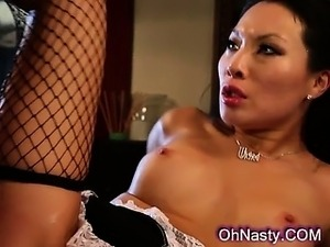 very hot asian maid with perky nipples