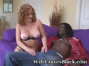 Little Mrs. Redhead Fucks Big Black Cock free