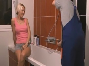 sexyangel2007  Fucking repair men in bathroom free