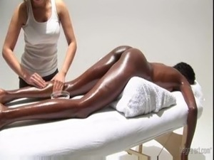 very hot! white girl massaging black ebony princess and masturbate her free