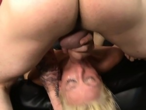 Deepthroating Dildo And Big Throbbing Cock