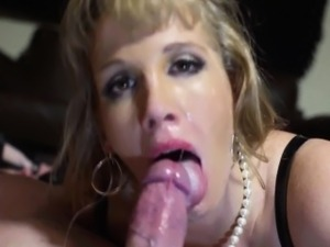 Real dom housewife drinks a load of cum