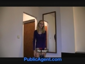PublicAgent Skinny shy blonde fucked in a hotel room for cash free