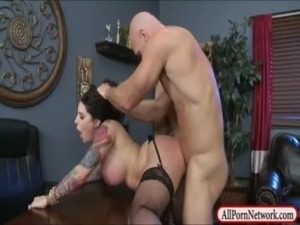Tattooed busty hoe Darling Danika fucked and facialed free