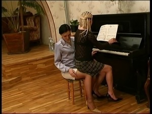 Russian lesbian piano teacher