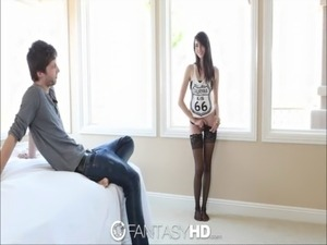 HD - FantasyHD Teen Emily Grey fucks with black thigh highs free