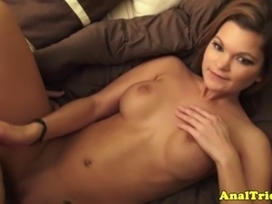 Analsex loving exgirlfriend fucked slowly deep in her asshole