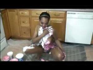 Messy and sweet ebony amateur girl