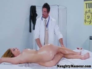 Oily massage beauty Ashley Graham pounded free