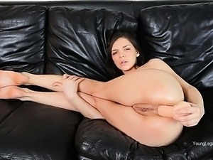 Hard toy deeply in her asshole