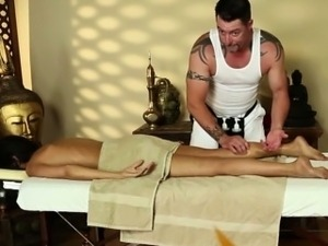 Trinity St Claire on massage spycam