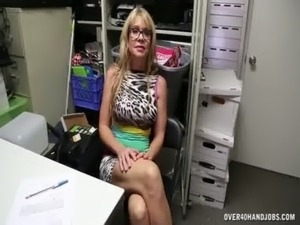 Sexy step-mom handjob free