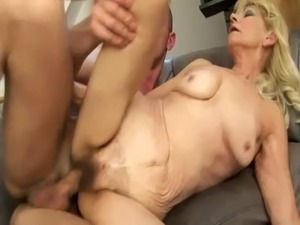 Mature blonde granny doggystyle fucked free
