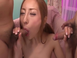 Japanese milf mature in lingerie sucks dick and wants cum