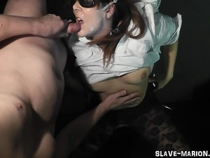 Dirty slutwife Marion gets fucked and creamed and pissed on by several...