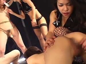 This scene features two of the roughest Japanese BDSM mistresses who are...