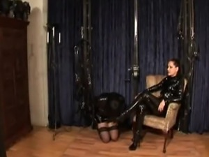 Mistress Silvias sissy maid gets used, has to suck cock and swallow other...