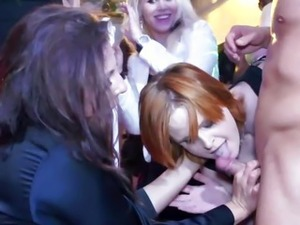 Partying sluts fingered and fucked