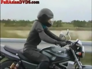 Japanese Girl Rides Dildo Motorcylcle
