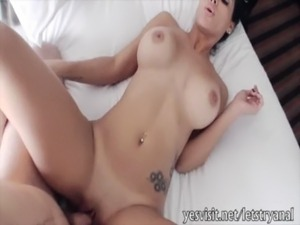 Skanky girlfriend Jasmine Caro tries out anal sex at home free