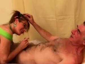 Jenny plays nurse with old pervert