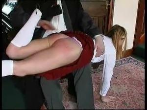 Ellie Mae gets a hard OTK spanking