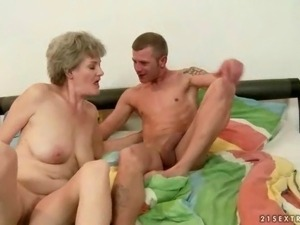 Best of Lusty Grandmas battling out with young cocks